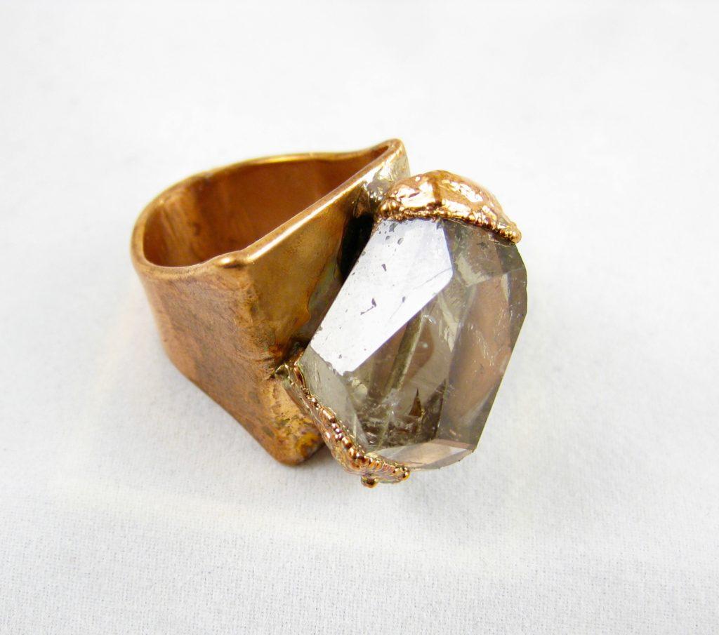 Xl ring met rookkwarts