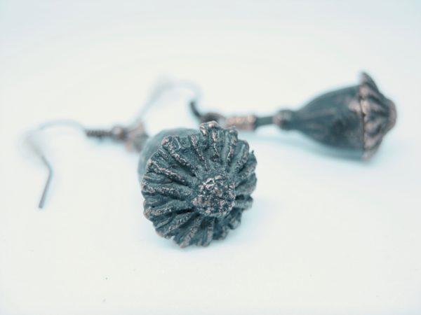 CopperGorgeousseedpod-oorbel.2
